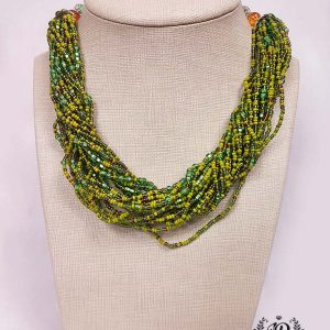 Green Twisted Necklace